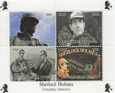 Sherlock Holmes Consulting Detective Miniature Mnh Stamp Sheetlet