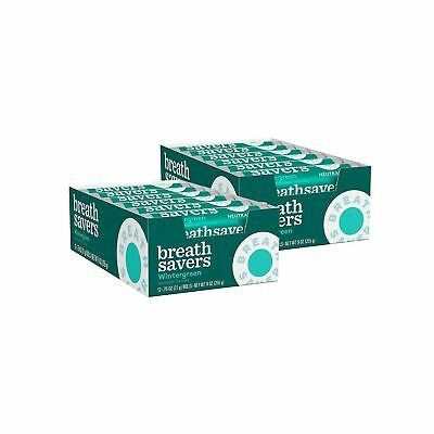 X48 Breath Savers Wintergreen  Candy Mints Two Boxes Of 24 = 48 Rolls