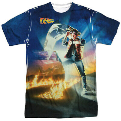 Back To The Future Poster All Over Sublimation Poly Licensed Adult Shirt S-3XL