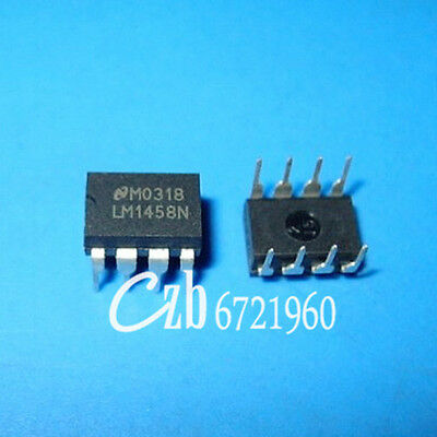 10Pcs Lm1458N Dip-8 Lm1458 Dual Operational Amplifier Ic