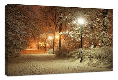 stunning winter scene canvas print warming home natural seasonal  nature snow