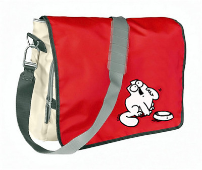 SIMON'S CAT Messenger Bag, SIMONS KATZE hungry Tasche.