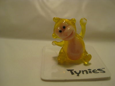 OLLY YELLOW ORANGUTAN animal TYNIES Tiny Glass Figurines Collectibles NEW 0148