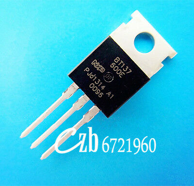 10PCS BT137-600E TO-220 BT137 600V 8A Triacs Thyristor