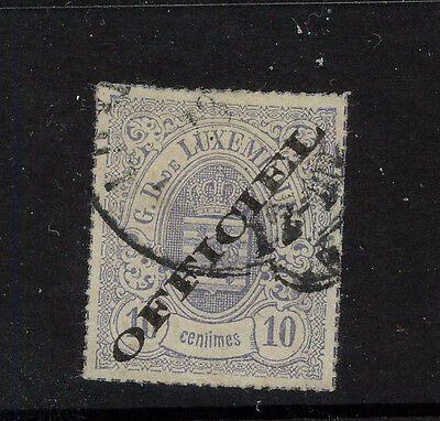 Luxembourg  O3   used  catalog  $2,100.00   RL0329