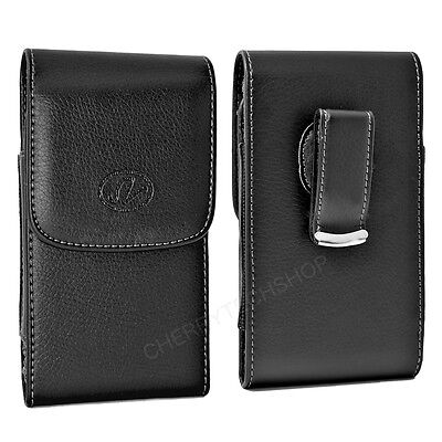 Leather Vertical Belt Clip Case Pouch for BlackBerry Cell Phones ALL CARRIERS