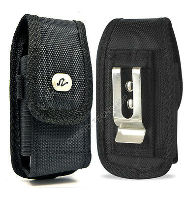 Rugged Canvas Vertical Belt Clip Case for BlackBerry Cell Phones ALL CARRIERS