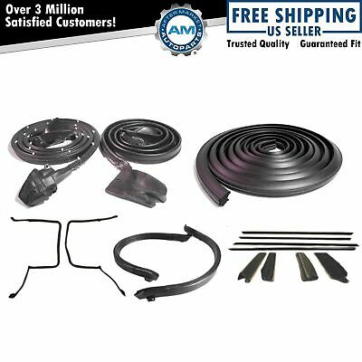 Full Weatherstrip Set Kit for 78-81 Camaro Firebird T-Top Seals w/ Decor Package
