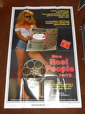 Vintage More Reel People II 1 one single Sided 27x41 Adult Movie Poster 1985 XXX