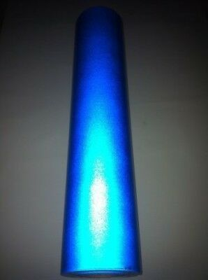 """24"""" x 150ft  BLUE  Reflective Vinyl Adhesive Cutter Sign Special Price"""