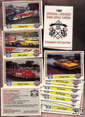 1990 IHRA Hot Rod Drag racing official boxed New 100 race card set NM/MT