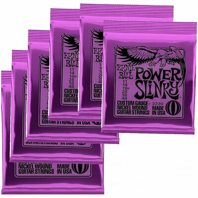 Ernie Ball 2220 Power Slinky Nickel Electric Guitar Strings 11 - 48 X 6 Packs