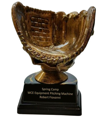 Personalized Baseball Holder Trophy - Engraved FREE - Speedy Shipping