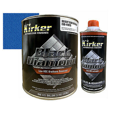 Kirker Black Diamond LVB Bright Blue Metallic LVB-41075 W/ 1 Qt Med Activator