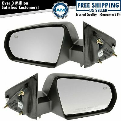 Side View Mirrors Power Heated Textured LH /& RH Pair Set Kit for Nissan Cube
