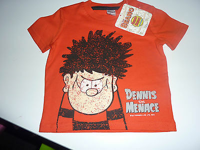 BEANO Really Cool Red DENNIS The MENACE T-Shirt NWT