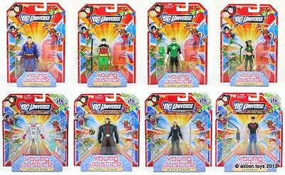"""DC Universe Young Justice League Superman Robin Green Lantern 4"""" action figures!"""