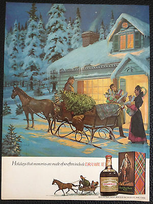1975 Drambuie Liqueur Vintage Magazine Ad Print -holidays that memories are made