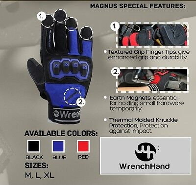 WrenchHand Magnus Work & Performance Gloves Large Black