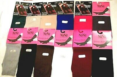Women's Knee- High Trouser 9-11 Socks 1 pair - 12 Colors to Choose from