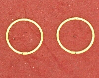 Gold Plated Sterling Silver SLEEPERS Earrings Hinged 12mm small solid 925