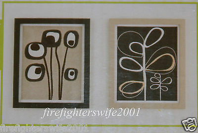 CoCaLo Pewter Collection 2 pc framed art 12x18 new