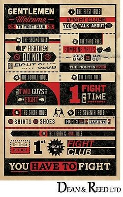 Fight Club Rules Infographic - Maxi Poster - 61cm x 91.5cm -  PP32912 - 359