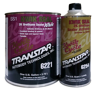 Transtar Kwik Seal 2K Urethane Sealer White Gallon 6221 and Activator Qt. 6254