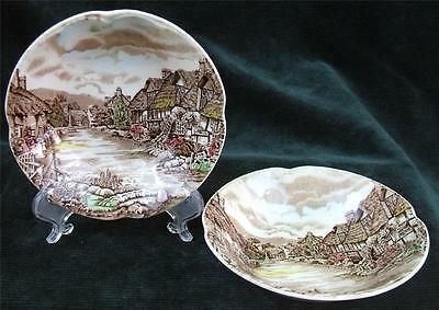 Pair of - JOHNSON BROTHERS - OLDE ENGLISH COUNTRYSIDE - FRUIT or DESSERT DISHES