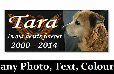 Photo DOG cat rabbit Guinea pig  PET MEMORIAL Plaque sign + mount options garden