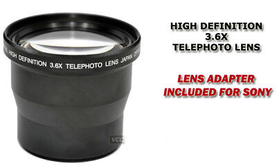Professional 58mm 3X Tele Lens For SONY DSC-H3 H5 H1 H2 F828 F717 H10