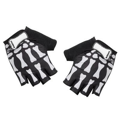 Cycling Bike Motorcycle SKULL BONE SKELETON Goth Racing Fingerless GLoves XL/M/L