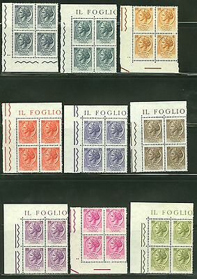 Italy Selection Of Mostly Corner Blocks All Mint  As Shown
