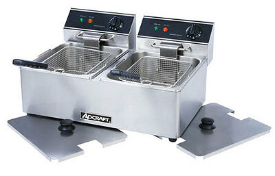 Adcraft DF-6L/2 Commercial Electric Deep Fryer & COVERS NSF APPROVED