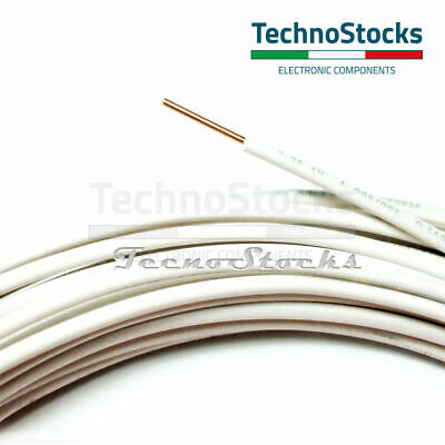 2m Cavo singolo filo rame rigido 1x1mm - PVC Solid bare Single Core Wire H05V-U