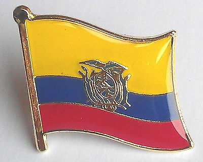 Ecuador National Flag Metal Lapel Pin Badge
