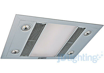 Martec Linear - Silver Led 3 In 1 Bathroom Heater Exhaust Fan Light Mbhl1000S