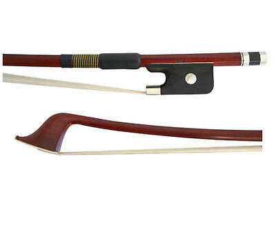 Mueller 3/4 Size Round Stick Brazilwood Double Bass Bow French Style