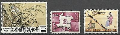 China Taiwan 1969 lot of 3 diff Stamps Used see image