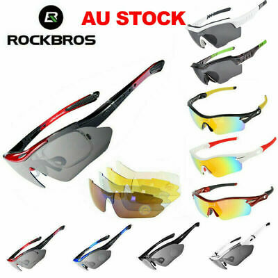 RockBros Polarized Cycling Sunglasses Sports Glasses Bike Bicycle Goggles