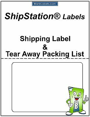 100 Laser / Ink Jet Labels for ShipStation with Tear Off Receipt / Packing List!