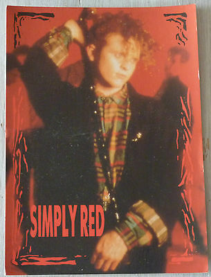 Carte Postale Postcard - SIMPLY RED -