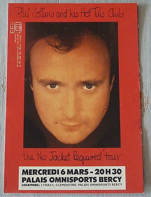 Carte Postale Postcard - PHIL COLLINS and this hot tub club - Paris Bercy -