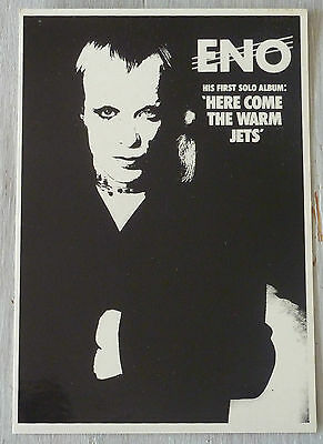 Carte Postale Postcard - ENO - Here Come The Warm Jets - First Solo Album