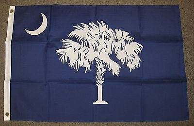 Visible both Sides 12x18 South Carolina State Flag Double Stitched Polyester