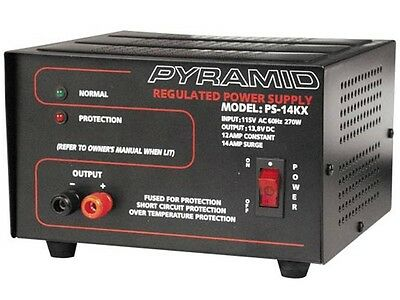 New Pyramid PS14KX (PS-14KX) 12 Amp 13.8V Constant Regulated AC/DC Power Supply