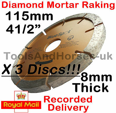 "3x 4-1/2"" 115mm Mortar Raking Disc Diamond Angle Grinder Mortar Raking Disc 4.5"""