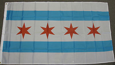 3X5 City Of Chicago Flag New Illinois Il Banner F608