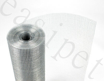 """Welded Wire Mesh 1/4"""" x 1/4"""" x 15m long Aviary Hutches 3 widths Easipet"""