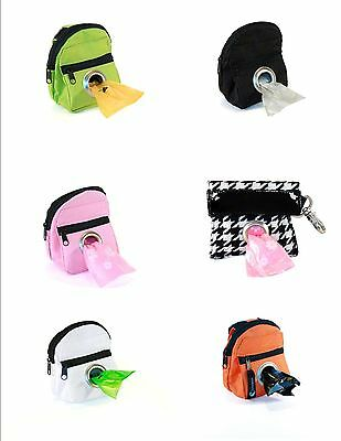 Lola Bean Pet Dispenser Waste Poop Dog Poo Puppy Pick-Up Bags ~ PICK COLOR